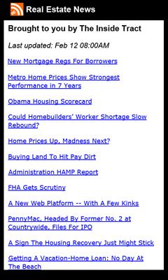 Real Estate News App